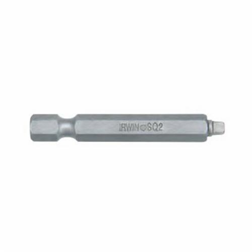 Irwin® 3522993C Power Bit Set, Square Recessed Point, 3 Pieces, 1-15/16 in OAL, Steel