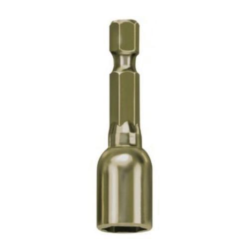 Irwin® 3548321C Lobular Magnetic Nutsetter, 5/16 in Hex Point, Hex Shank, 2-9/16 in OAL, Metal, Gold