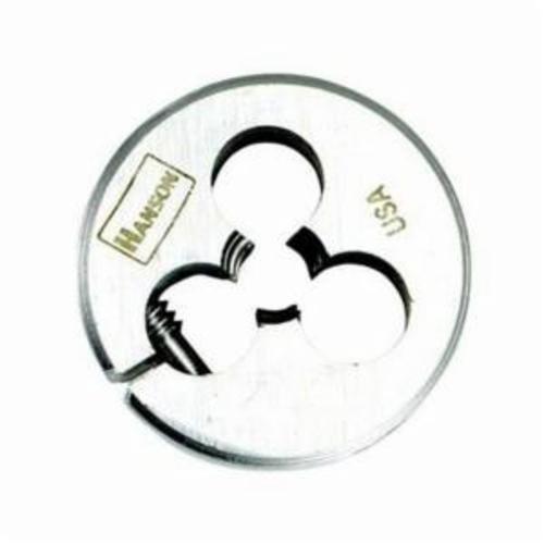 Irwin® Hanson® 3820ZR Adjustable Round Screw Die, 1/4-20 UNC Thread, 1 in OD Die, High Carbon Steel
