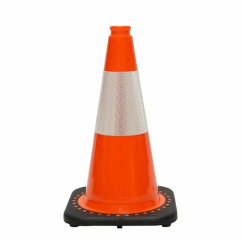 JBC™ RS45015C3M6 Revolution Plain Traffic Cone With 6 in Reflective Collar, 18 in H, Orange Cone, 1 Collars, Specifications Met: NCHRP-350 Certification, MUTCD Standards