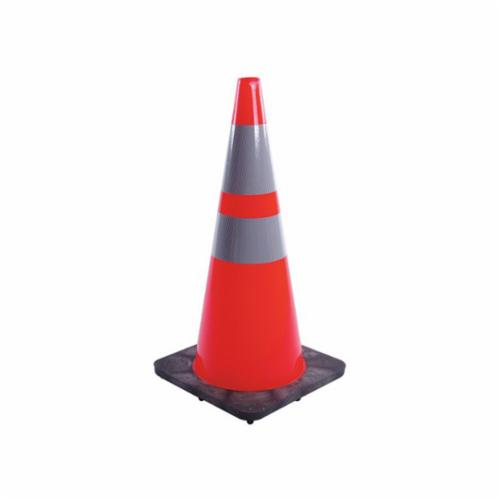 JBC™ RS70032CT3M64 Revolution Recessed Traffic Cone, 28 in H, Fluorescent Red/Orange Cone, Specifications Met: NCHRP-350 Certification, MUTCD Standards, ASTM D4956 - 07