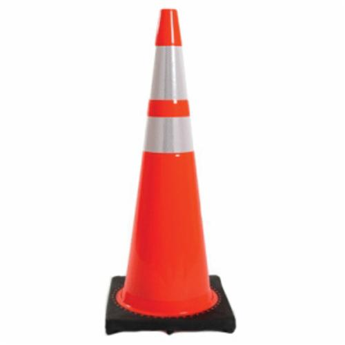 JBC™ RS90045CT3M64 Revolution Recessed Traffic Cone With Reflective Collar, 36 in H, Fluorescent Orange Cone, Specifications Met: NCHRP-350 Certification, MUTCD Standards