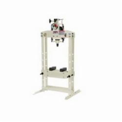 JET® 331406 Shop Press, 5 ton Capacity, 23-1/2 in L x 26 in W Base, 4 in Piston, 3 in Screw L Stroke, H Frame Frame, 52 in H, Hydraulic Power
