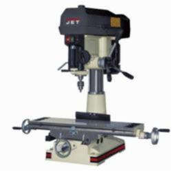 JET® 350020 Mill/Drill Machine, 2 hp, 115/230 VAC, 9-1/2 in L x 31-3/4 in W Table, 20-1/2 in Longitudinal Travel, Step Pulley Speed Control, R-8 Spindle