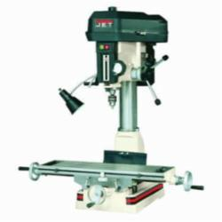 JET® 350116 Mill/Drill Machine With ACU-RITE VUE DRO, 1 hp, 115/230 VAC, 7-1/2 in L x 23 in W Table, 14 in Longitudinal Travel, Step Pulley Speed Control, R-8 Spindle