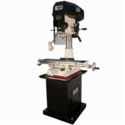 JET® 350120 Mill/Drill Machine With ACU-RITE VUE DRO and X-Axis Table Powerfeeds, 2 hp, 115/230 VAC, 9-1/2 in L x 32-1/4 in W Table, 20-1/2 in Longitudinal Travel, Variable Speed Pulley Speed Control, R-8 Spindle