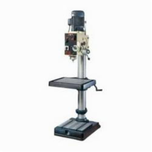 JET® 354022 Geared Head With Tapping Head, 2 hp, 230 VAC, 20 in Swing, 21-3/4 x 19-1/2 in Table