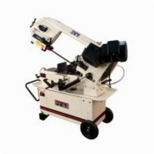 JET® 413460 Geared Head Horizontal/Vertical Band Saw, 5 in Round, 5 x 8 in Rectangle 45 deg Capacity, 8 in Round, 8 x 11-1/4 in Rectangle 90 deg Capacity, 1 hp, 115/230 VAC, 16 A, 145/200/245 sfpm Speed