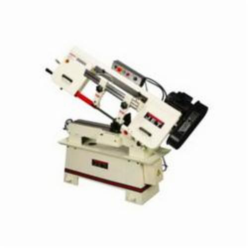 JET® 414450 Horizontal Step Pulley Band Saw, 9 in Round, 9 x 13 in and 9 x 8 in Rectangle 45 deg Capacity, 9 in Round, 9 x 13 in Rectangle and 8-1/2 in Square 90 deg Capacity, 1-1/2 hp, 115/230 VAC, 18/9 A, 82/132/170/235 sfpm Speed