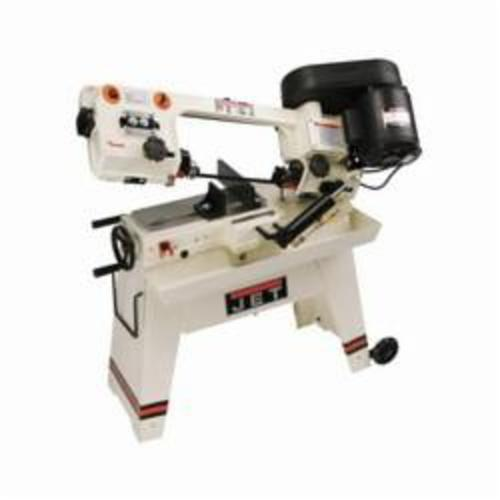 JET® 414453 Horizontal Band Saw, 4-1/2 in Round, 4-1/2 x 5 Rectangle 45 deg Capacity, 8 x 5 in Round, 7-1/2 x 5 in Rectangle 90 deg Capacity, 1/2 hp, 115 VAC, 9/4.5 A, 1 Phase, 85/125/200 sfpm Speed