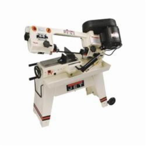JET® 414461 Horizontal Gear Head Band Saw, 4-1/2 in Round, 4-1/2 x 5 in Rectangle 45 deg Capacity, 5 in Round, 7-1/2 x 5 in Rectangle 90 deg Capacity, 1/2 hp, 115 VAC, 9/4.5 A, 85/125/200 sfpm Speed