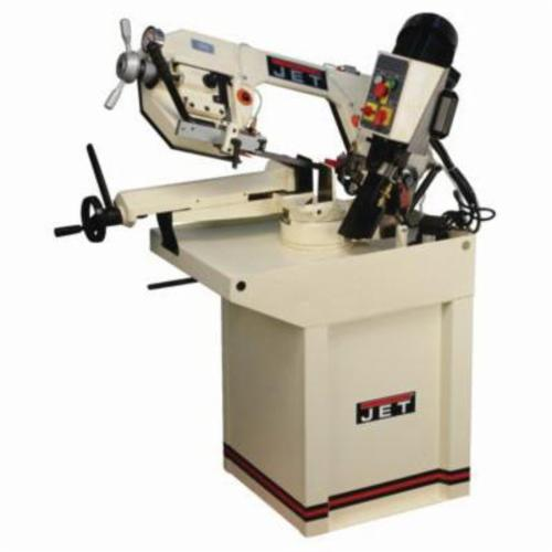 JET® 414464 Mitering Horizontal Band Saw, 4-1/2 in Round, 4-1/2 x 4-1/2 in Rectangle 45 deg Capacity, 7 in Round, 7-7/8 x 6 in Rectangle 90 deg Capacity, 1 hp, 230 VAC, 3 Phase, 157/314 sfpm Speed
