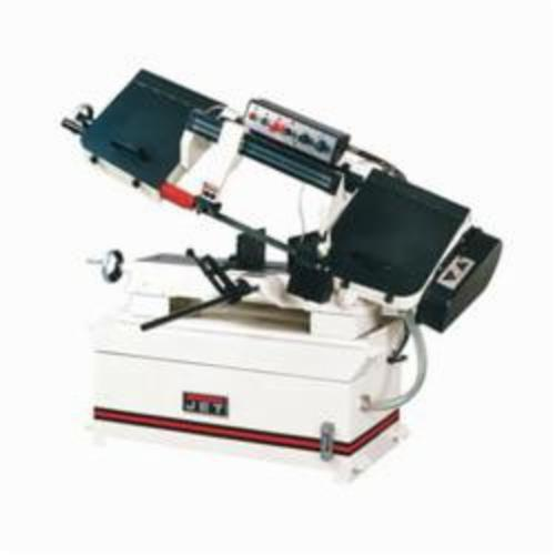 JET® 414468 Horizontal Step Pulley Band Saw, 6-1/8 in Round, 9 x 6-1/8 in Rectangle 45 deg Capacity, 9 in Round, 8-1/2 x 14 in, 2 x 16 in Rectangle 90 deg Capacity, 1-1/2 hp, 115/230 VAC, 18/9 A, 82/132/170/235 sfpm Speed