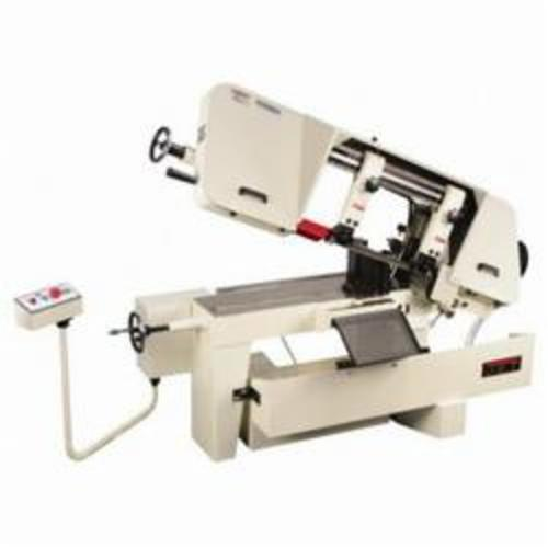 JET® 414472 Horizontal Variable Speed Pulley Band Saw, 10 in Round, 6-1/2 x 11 in Rectangle 45 deg Capacity, 10 in Round, 10 x 10 in and 7 x 16 in Rectangle 90 deg Capacity, 1-1/2 hp, 115/230 VAC, 18/9 A, 100 to 350 sfpm Speed