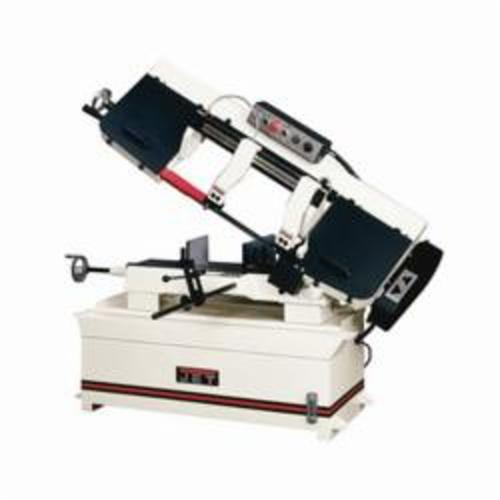 JET® 414473 Horizontal Step Pulley Band Saw, 7-3/4 in Round, 10 x 7-1/2 in Rectangle 45 deg Capacity, 10 in Round, 10 x 16 in and 6-1/2 x 18 in Rectangle 90 deg Capacity, 2 hp, 230 VAC, 15 A, 82/132/210/330 sfpm Speed
