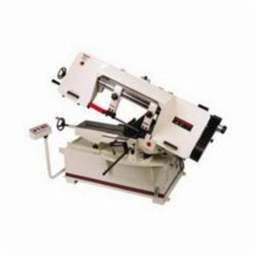 JET® 414475 Horizontal Miter Variable Speed Pulley Band Saw, 8-1/2 in Round, 8-1/2 x 9 in Rectangle 45 deg Capacity, 10 in Round, 2 x 16 in Rectangle 90 deg Capacity, 2 hp, 230/460 VAC, 15 A, 100 to 350 sfpm Speed