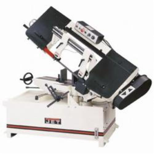 JET® 414479 Horizontal Miter Step Pulley Band Saw, 9 in Round, 9 x 8-1/2 in Rectangle 45 deg Capacity, 10 in Round, 10 x 14 in Rectangle 90 deg Capacity, 2 hp, 230 VAC, 82/132/210/330 sfpm Speed