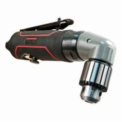 JET® 505630 R12 Reversible Angle Pneumatic Drill, 3/8 in Keyed Chuck, 1/2 hp, 4 cfm Air Flow, 90 psi, 8 in OAL