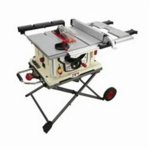 JET® 707000 Jobsite Single Phase Table Saw With Stand, 10 in Dia Blade, 5/8 in Arbor/Shank, 2-1/2 in 45 deg Capacity, 3-1/16 in 90 deg Capacity, 4.4 hp, Tool Only