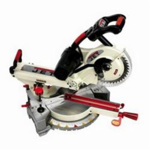 JET® 707110 Sliding Dual Bevel Compound Miter Saw, 10 in Blade, 5/8 in Arbor/Shank, 3-5/8 x 12 in Cutting, 60 deg Right, 45 deg Left Miter, 1-5/8 x 12 in Bevel