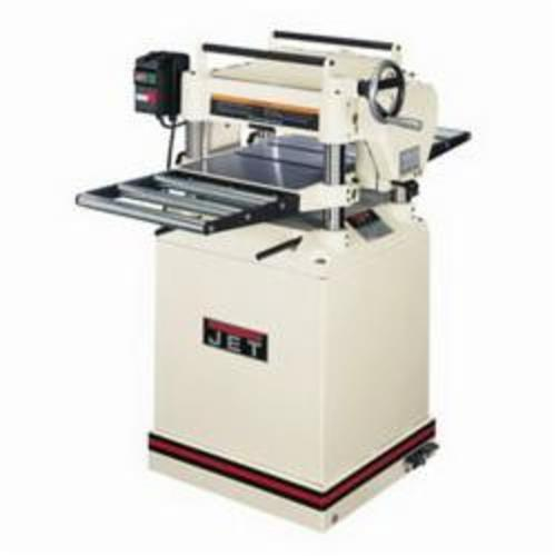 JET® 708538 Planer With Quick Change Knives, 14-7/8 in W Cutting, 3/16 in Depth of Cut, 4500 rpm Speed, 3 hp, 230 VAC, Tool Only