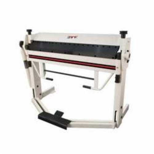 JET® 752125 Box and Pan Brake With Foot Clamp, 40 in L Bending, 12 ga Mild Steel, 2-1/2 in Max Depth of Box, Floor Mount