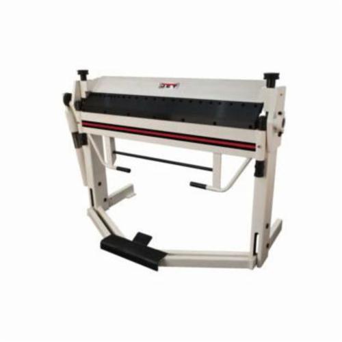 JET® 752127 Box and Pan Brake With Foot Clamp, 50 in L Bending, 14 ga Mild Steel, 2-1/2 in Max Depth of Box, Floor Mount