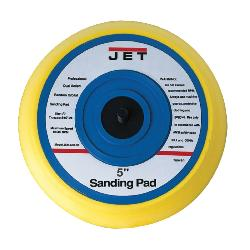 JET® JSM-603.5P Round Sanding Pad, For Use With JSM-603-5 Orbital Palm Sander, 5 in, 10000 rpm Max Speed, 5/16-24 Threaded Spindle
