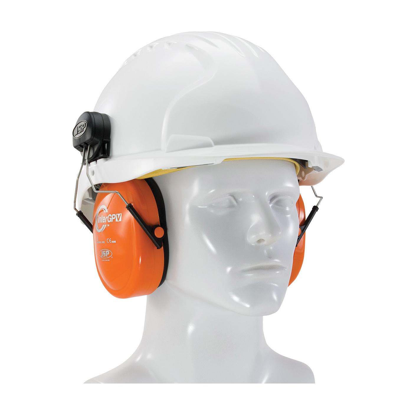 JSP® 262-AEK010-HV Inter GPV™ Ear Muff, 20 dB Noise Reduction, Hi-Viz Orange