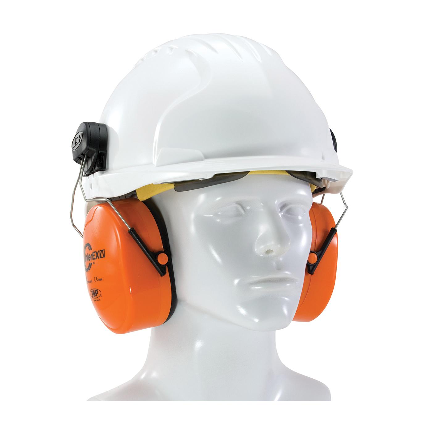 JSP® 262-AEK020-HV Inter EXV™ Ear Muff, 24 dB Noise Reduction, Hi-Viz Orange