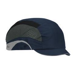 JSP® HardCap Aerolite™ 282-AEM130-21 Baseball Style Lightweight Micro Brim Bump Cap, OS, Navy, HDPE Liner/Polyester Cap, Elastic Strip Suspension, EN 812 A1:2012