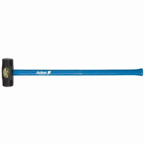 Jackson® 1198800 Sledge Hammer, 36 in OAL, 8 lb Forged Steel Head, Fiberglass Handle