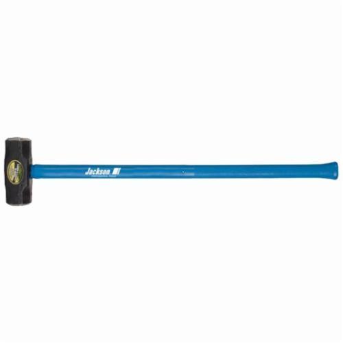 Jackson® 1199600 Sledge Hammer, 36 in OAL, 12 lb Forged Steel Head, Fiberglass Handle