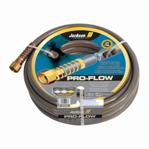 Jackson® 4003600 Pro-flow Heavy Duty Professional Hose, 5/8 in Nominal, 50 ft L, 450 psi Working, Brass/PVC