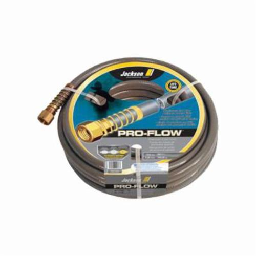 Jackson® 4004100 Pro-flow Heavy Duty Professional Hose, 3/4 in Nominal, 100 ft L, 450 psi Working, Brass/PVC