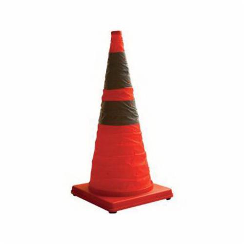 Cortina® 03-501-06 Pack and Pop Traffic Cone, 18 in H, Orange Cone, Specifications Met: MUTCD Standard