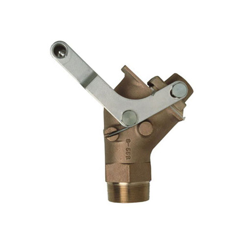 Justrite® 08552 Drum Gate Valve, 2 in MNPT Inlet, PTFE Seal, Self-Closing Closure, Brass Body