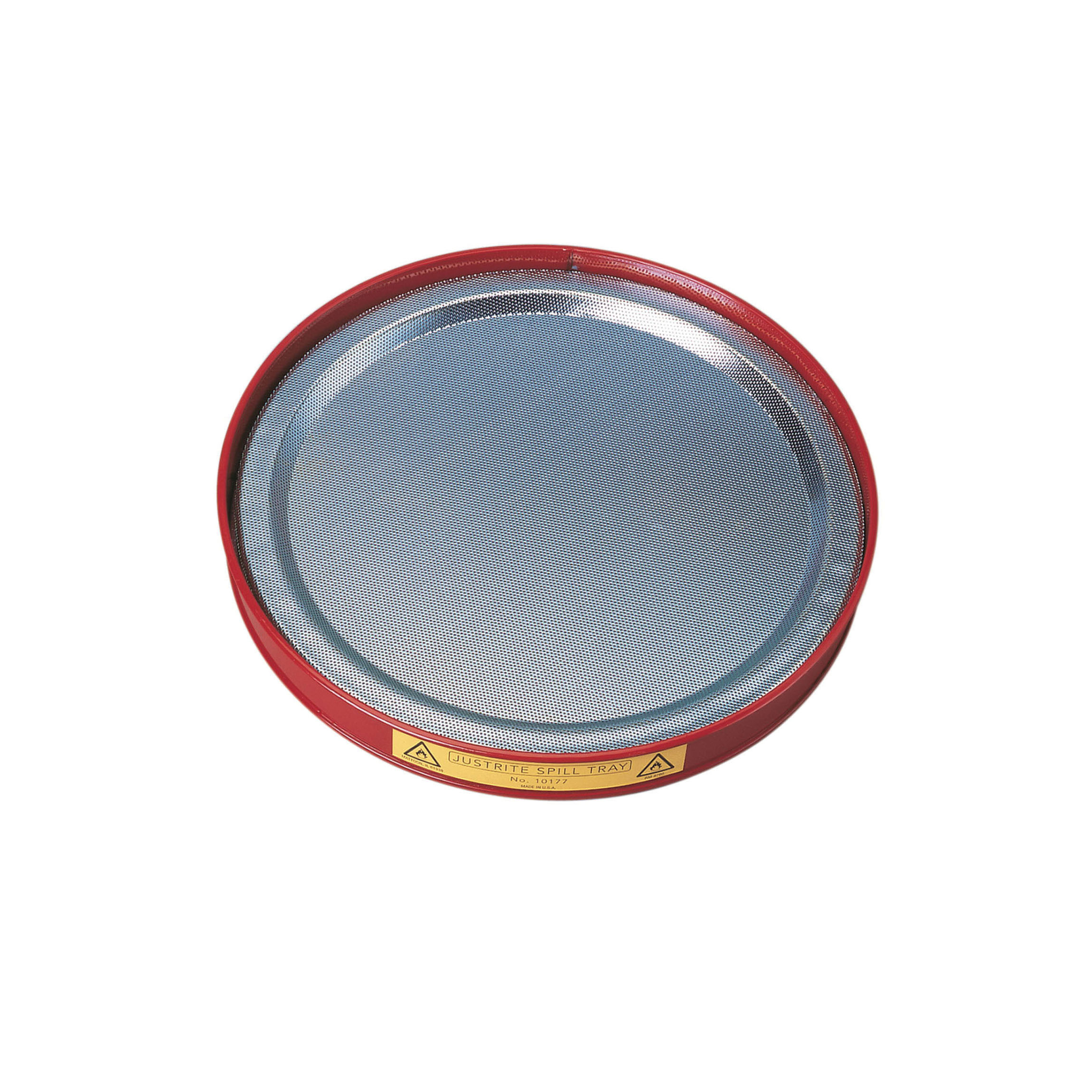Justrite® 10177 Spill Tray, 24 ga Coated Steel, Red, 1 qt Spill