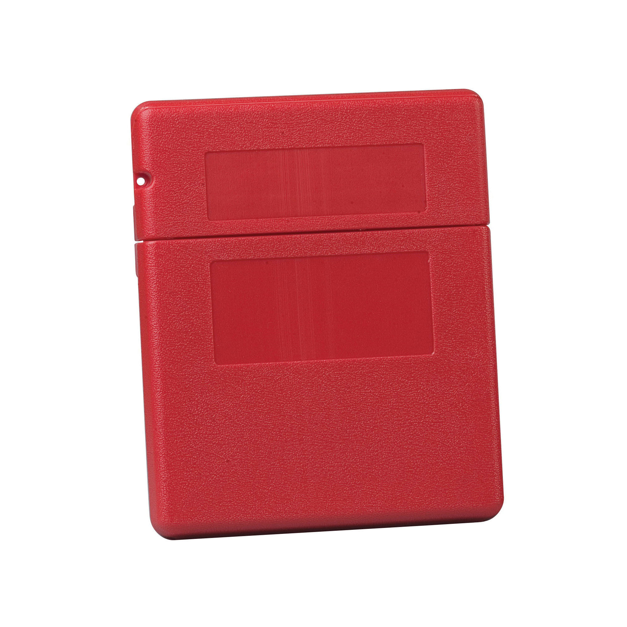 Justrite® 23303 Medium Document Storage Box, 2-1/4 in Exterior, 1.6 in Interior D x 11-1/2 in Interior, 12-1/2 in Exterior H, Polyethylene, Red
