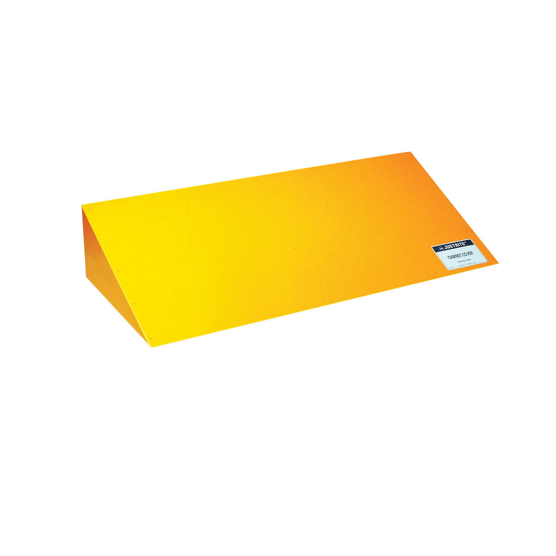 Justrite® 25987 Cabinet Cover, For Use With 12 gal, 17 gal, 30 gal, 40 gal and 45 gal Cabinets, Yellow
