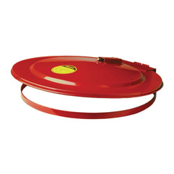 Justrite® 26730 Self-Closing Safety Drum Cover With Fusible Link, For Use With 30 gal Drums, Steel, Red