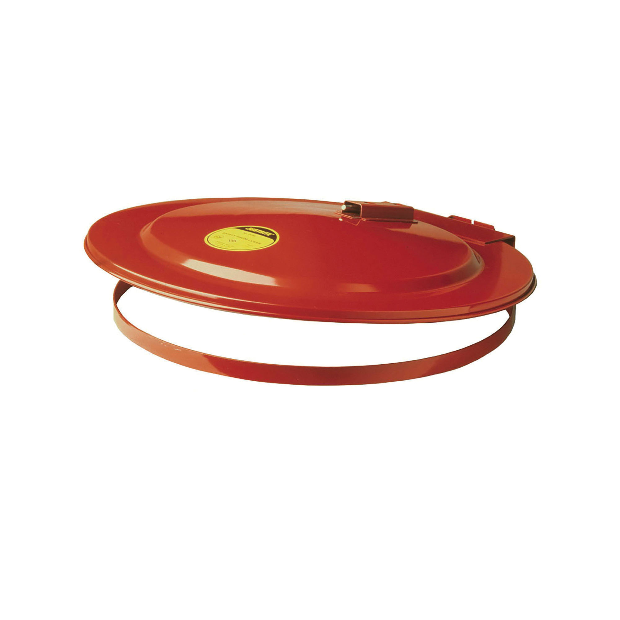 Justrite® 26750 Self-Closing Safety Drum Cover With Fusible Link, For Use With 55 gal Drums, Steel, Red