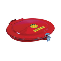 Justrite® 26752 Manual Close Safety Drum Cover With Vent and Gasket, For Use With 55 gal Drums, Steel, Red