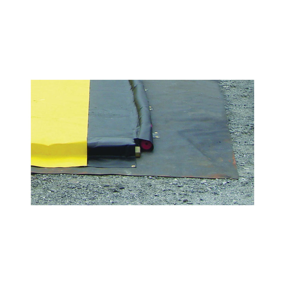 Justrite® 28338 Ground Mat, 6 ft L x 6 ft W, PVC Coated Woven