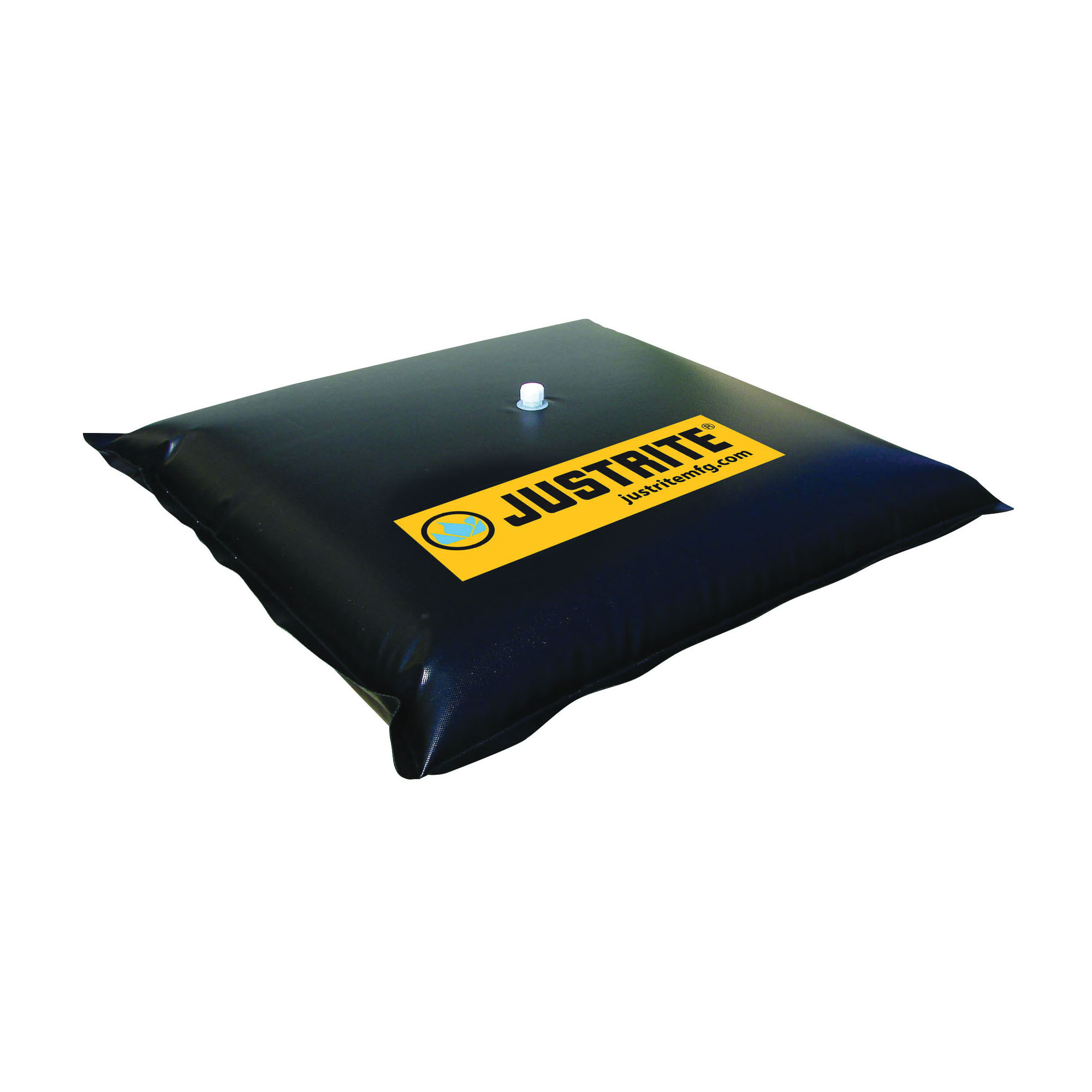 Justrite® 28470 Water Filled Drain Cover, Modified PVC Coated Fabric, Black