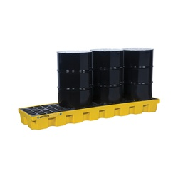 Justrite® 28630 EcoPolyBlend™ Spill Control Pallet, 4 Drums, 75 gal Spill, 5000 lb Load, 35% Recycled Polyethylene