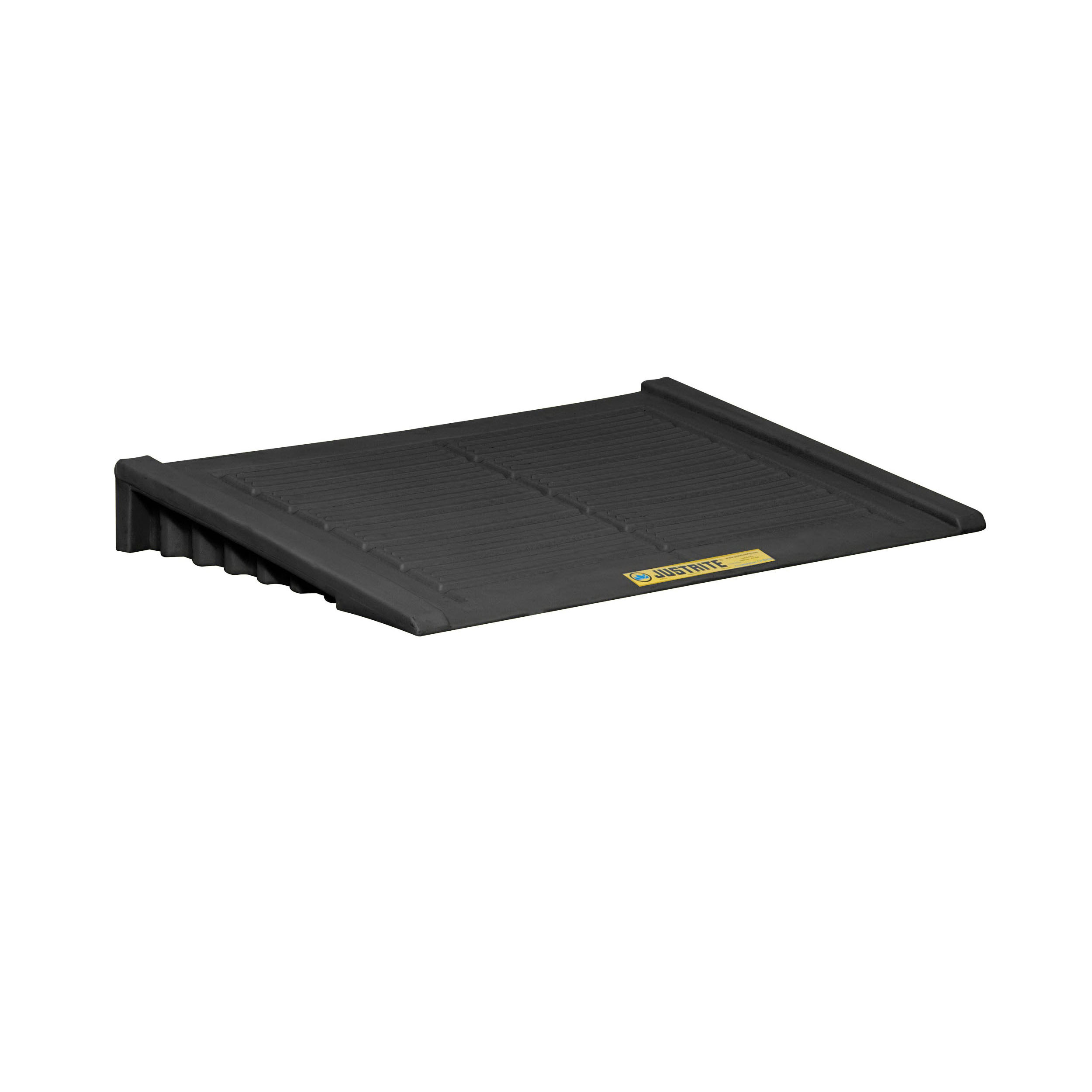 Justrite® 28687 Accumulation Center Ramp, 33 in L x 48 in W x 6-1/4 in H, 1000 lb Load, Recycled Polyethylene