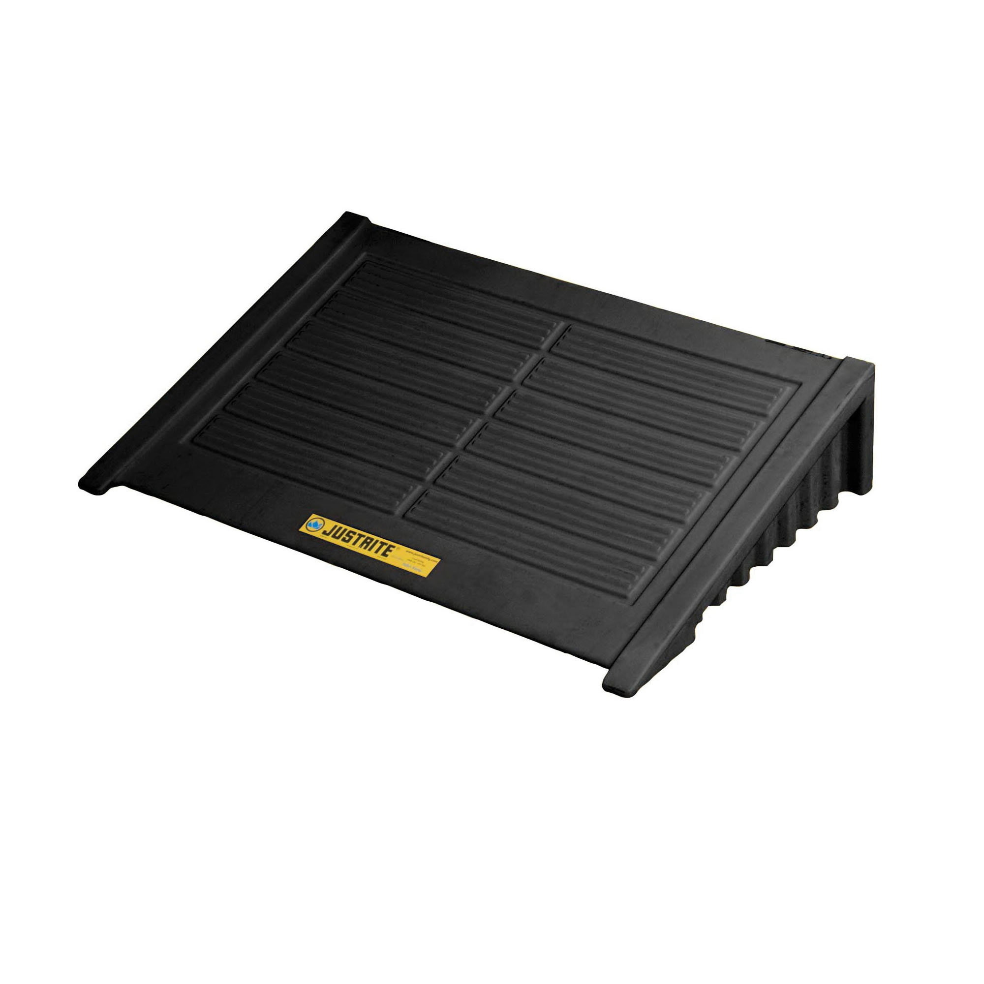 Justrite® 28688 Spill Pallet Ramp, 33 in L x 49 in W x 10-1/2 in H, 1000 lb Load, Recycled Polyethylene
