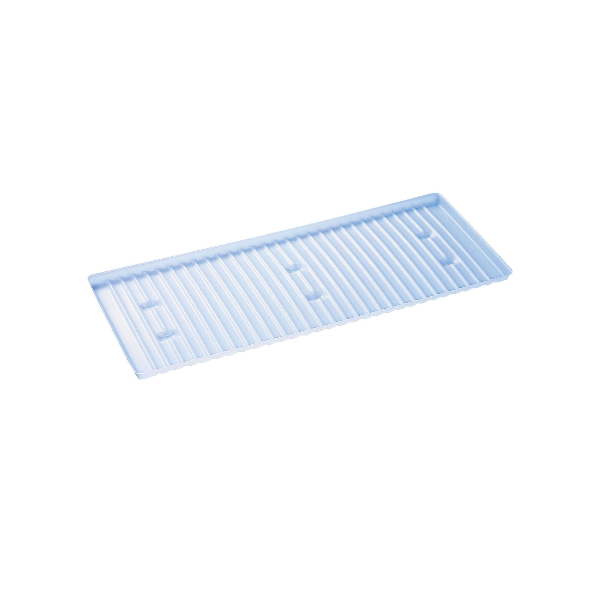 Justrite® SpillSlope® 29962 Combination Tray/Sump, For Use With 29937 Shelf, 45 gal 2-Door Cabinets and 17 gal Piggyback Safety Cabinet, White