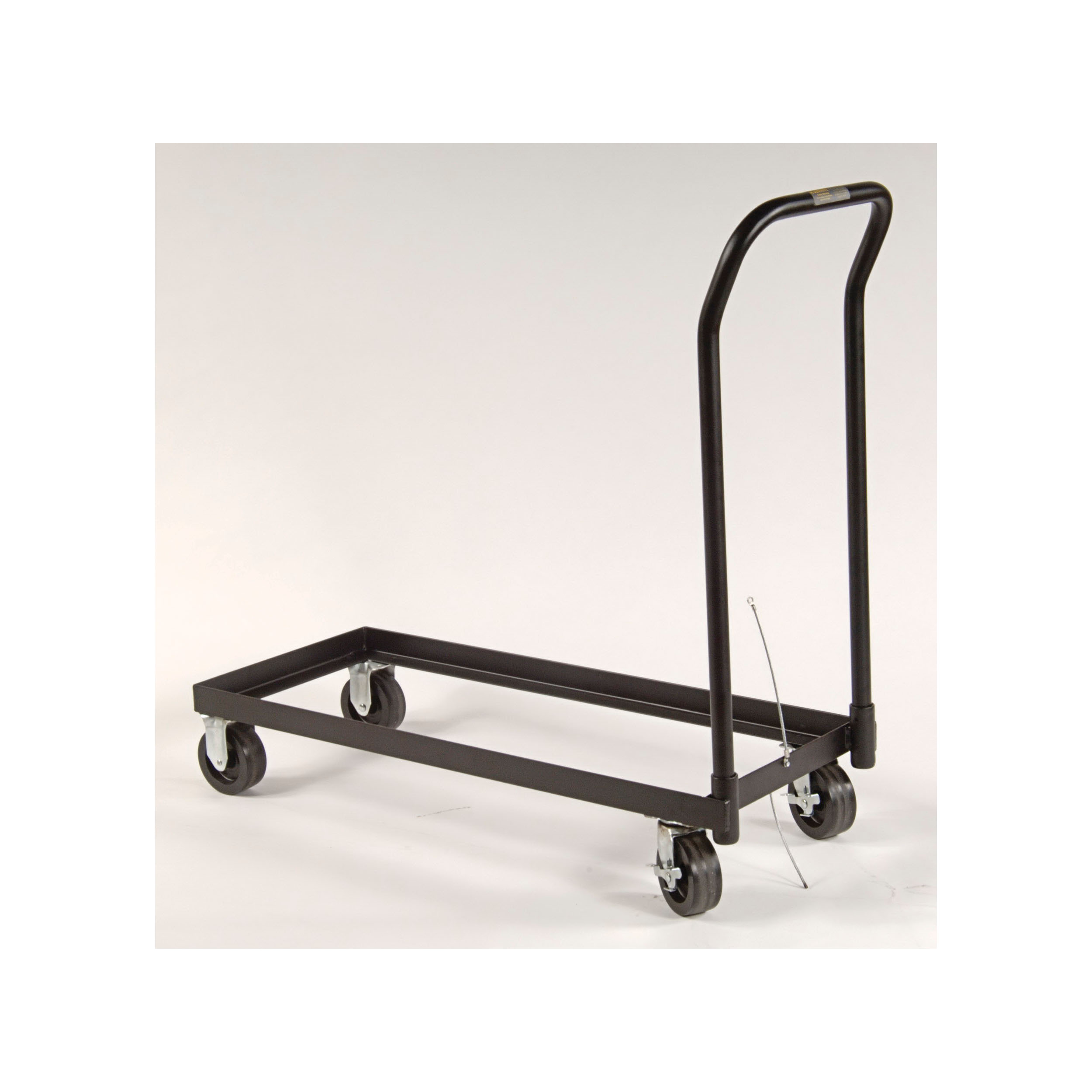 Justrite® 84001 Rolling Cart With 5 in Poly Caster Wheels, For Use With 30 gal and Piggyback Safety Cabinet, Black